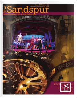 The Sandspur (Campus Newspaper) The Oscars Cover Design