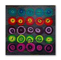 """Carnaval Dancers 48""""x48"""" Acrylic on canvas"""