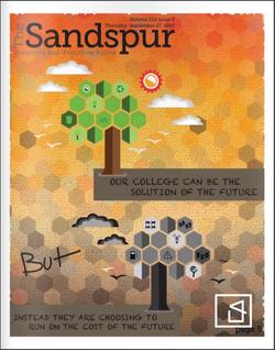 The Sandpsur (Campus Newspaper) Enviromnent Cover Design