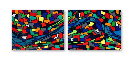 """London 36""""x24"""" (each) Acrylic on canvas"""