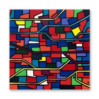 "Subway 24""x24"" Acrylic on canvas"