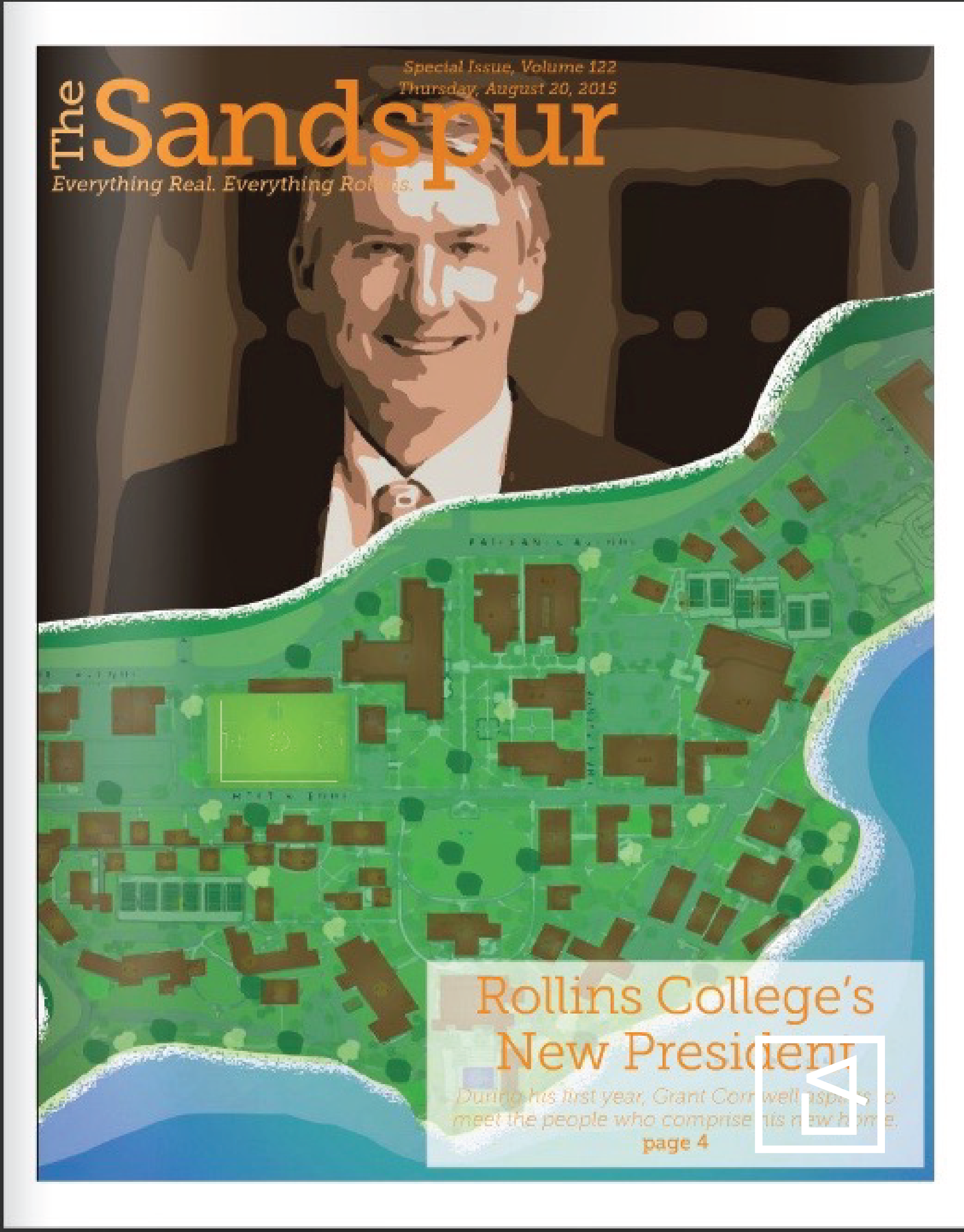 The Sandspur (Campus Newspaper) New President Cover Design