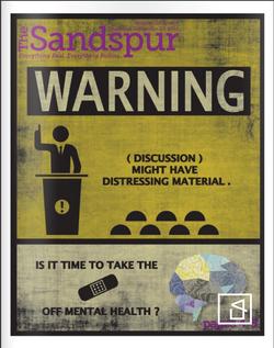 The Sandspur (Campus Newspaper) Mental Health Cover Design