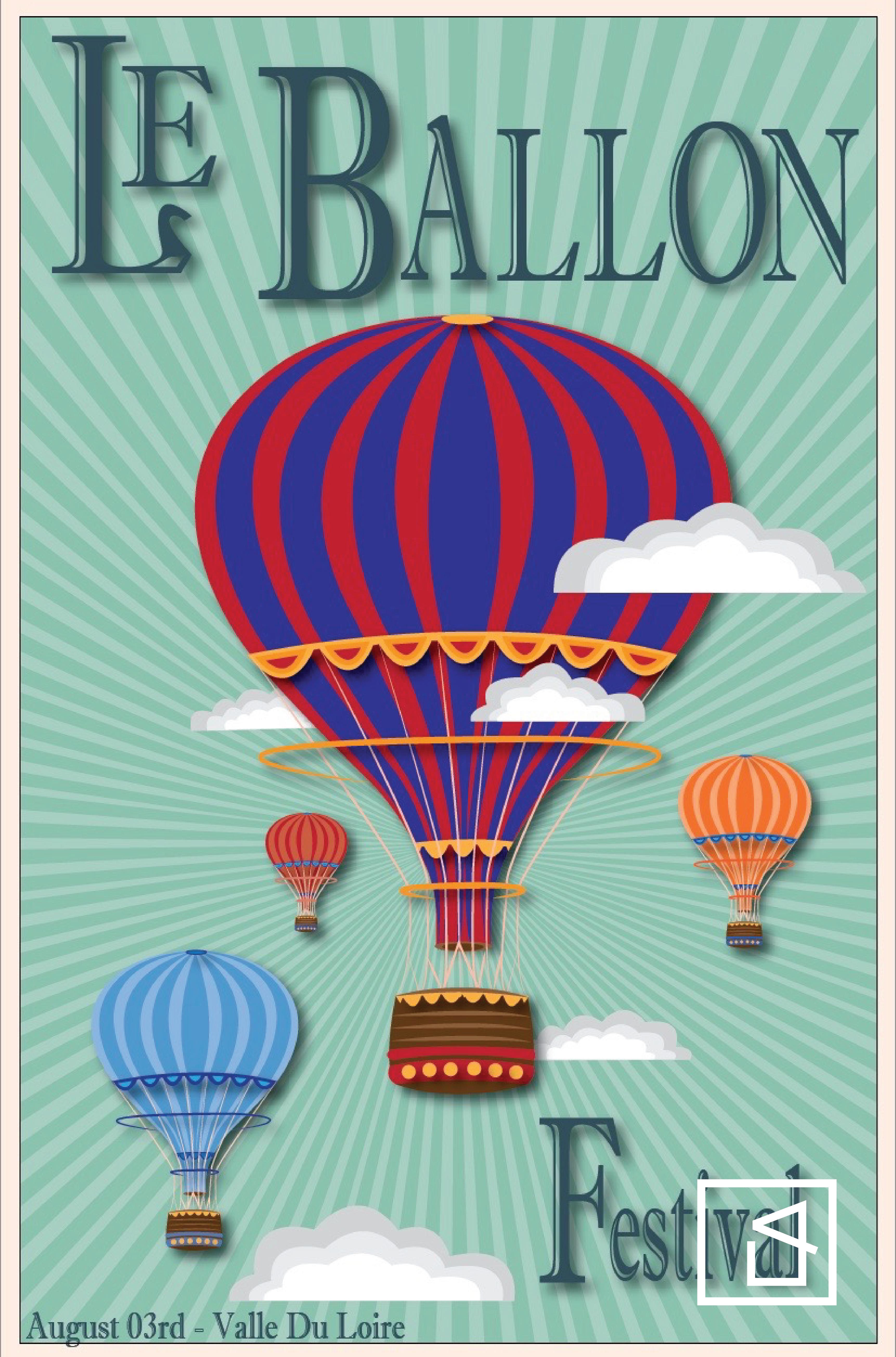 Mock Ballon Festival Poster Design