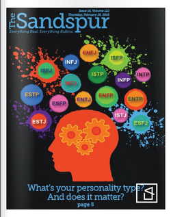 The Sandspur (Campus Newspaper) Personality Test Cover Design.png