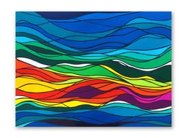 """Waves 48""""x36"""" Acrylic on canvas"""