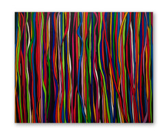 """Lucky Ribbons 60""""x48"""" Acrylic on canvas"""