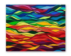 """Sunlight 60""""x48"""" Acrylic on canvas"""