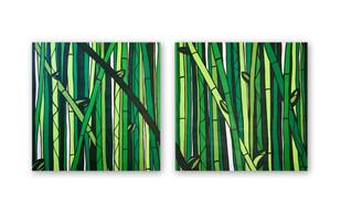 """Bamboo Forest 36""""x36"""" (each) Acrylic on canvas"""