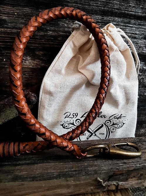 Rumble59 - Lederkette Leder Wallet Chain, geflochten