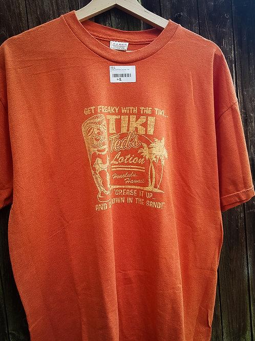 Tiki Ted's T-Shirt, Mens, orange