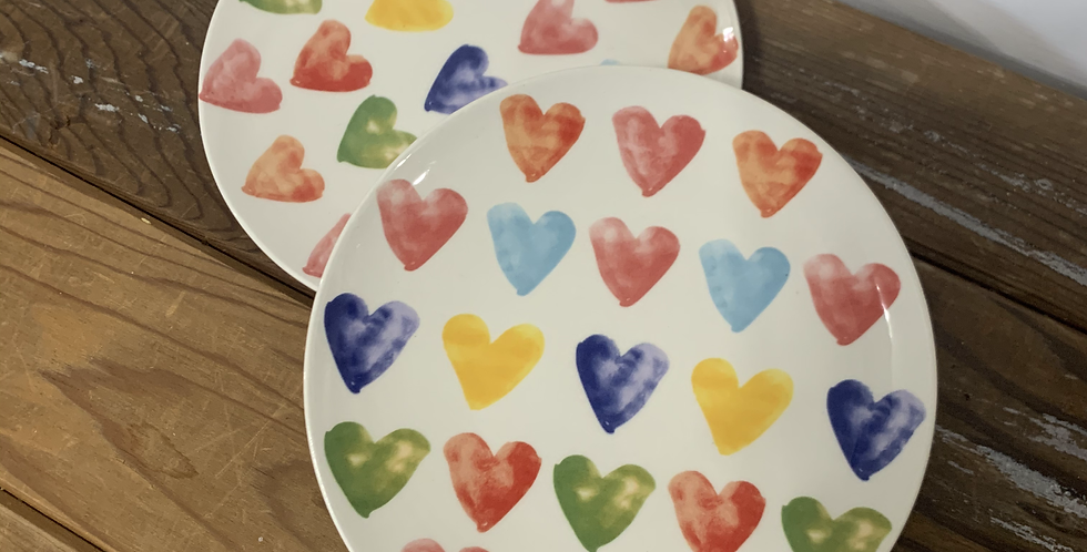 Ceramic Heart plate