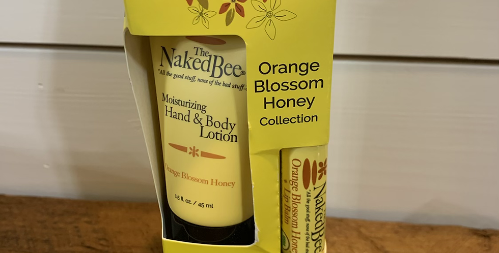 The naked bee orange blossom honey collection