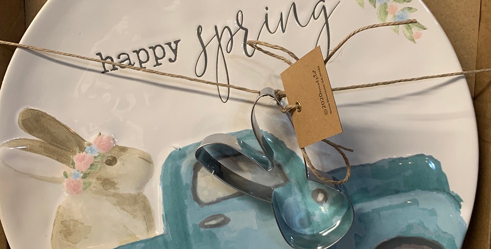 Spring plate and cookie cutter