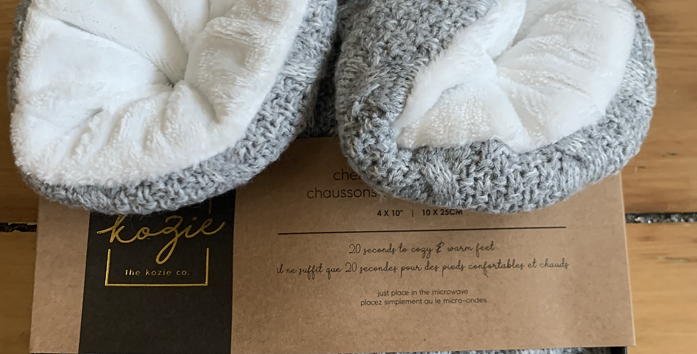 Chenille warming booties