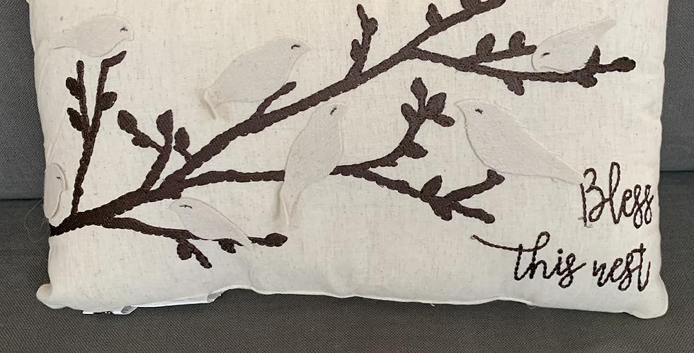 Bless this nest pillow