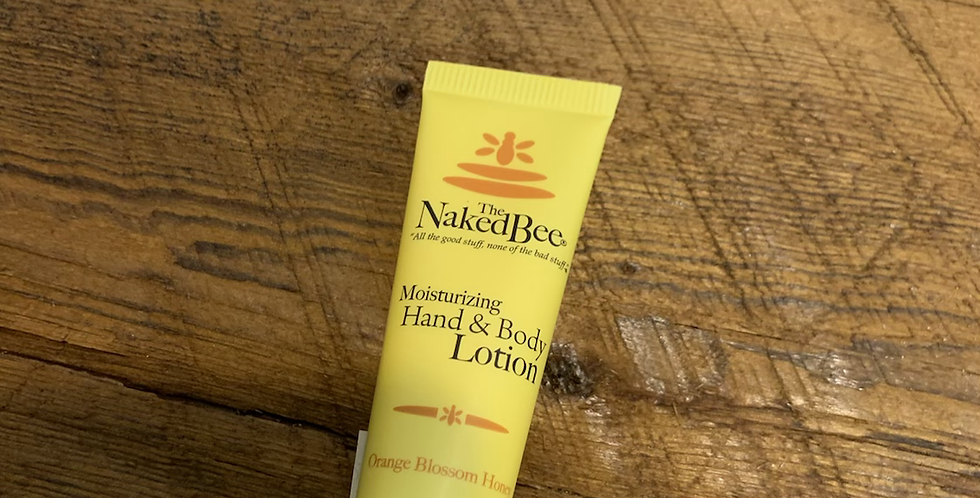 The naked bee mini hand and body lotion