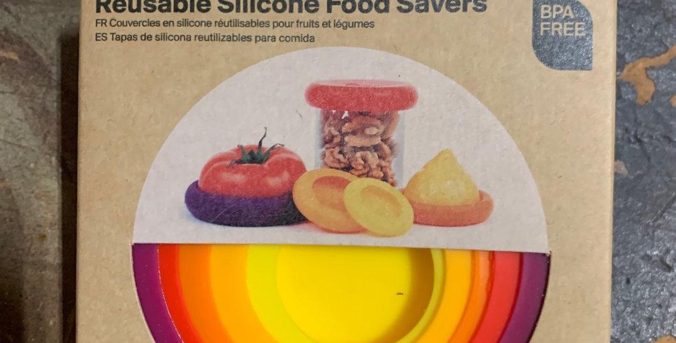 Reusable silicone food saver