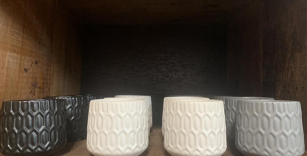 Ceramic votive (3 styles)