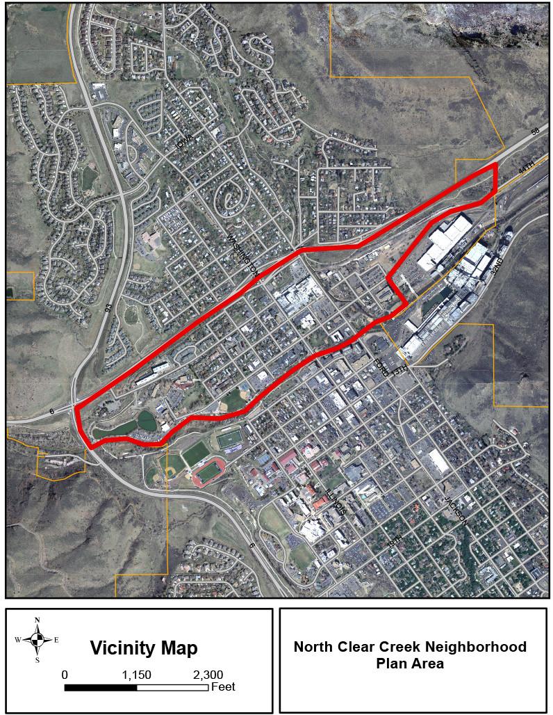northclearcreekneighborhoodvicinitymap