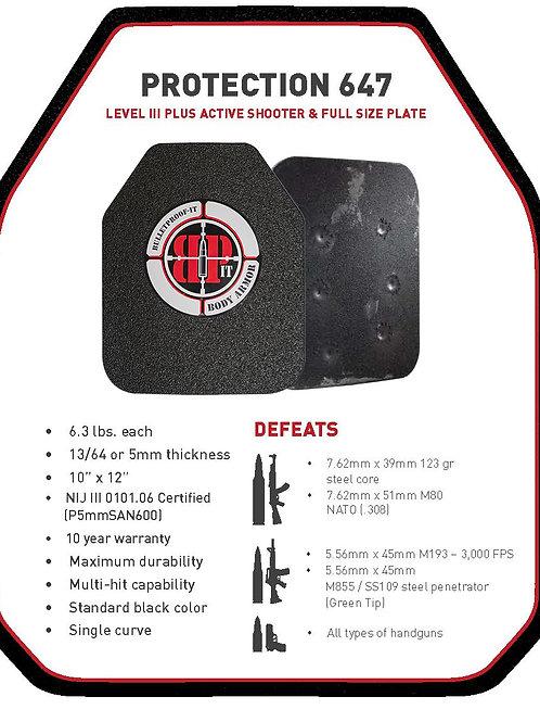 Star 647 Steel Plates NIJ Level III+