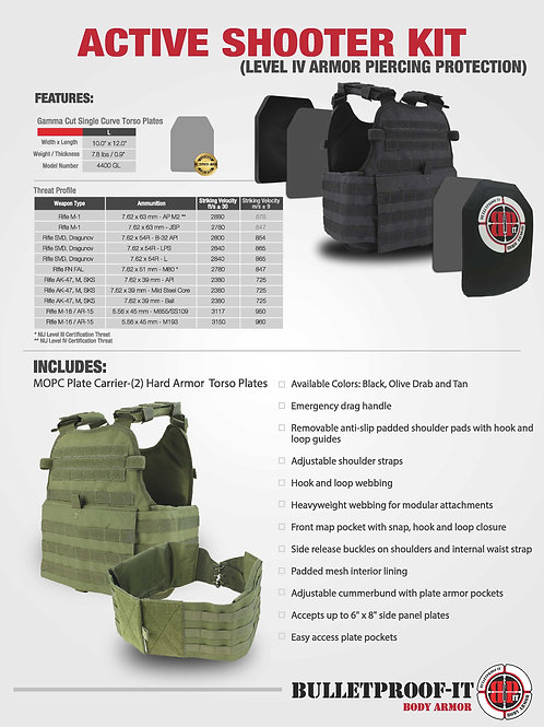 Level IV-Active Shooter Response Kit (MOPC)