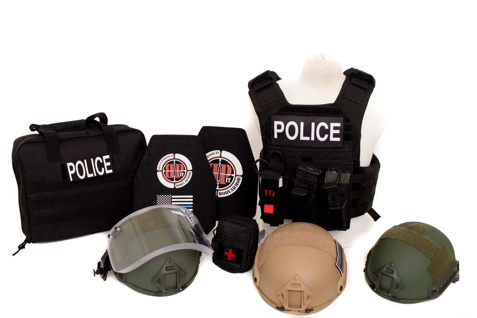 BULLETPROOF IT, LLC-Banshee Full Kit with Bag-2-Black  Police Patch-all helmets