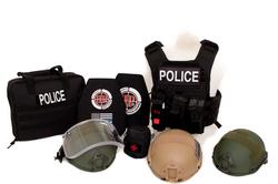 BULLETPROOF IT, LLC-Banshee Full Kit with Bag-2-Black  Police Patch-all helmets