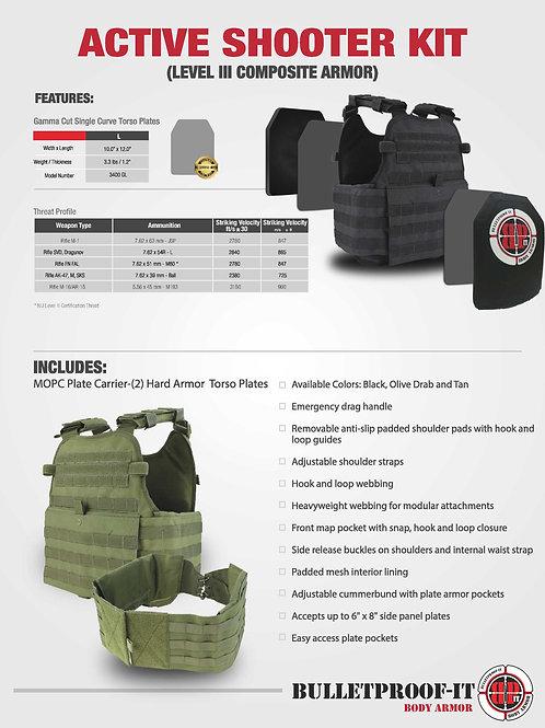 Active Shooter Response Kit (NIJ Level III)