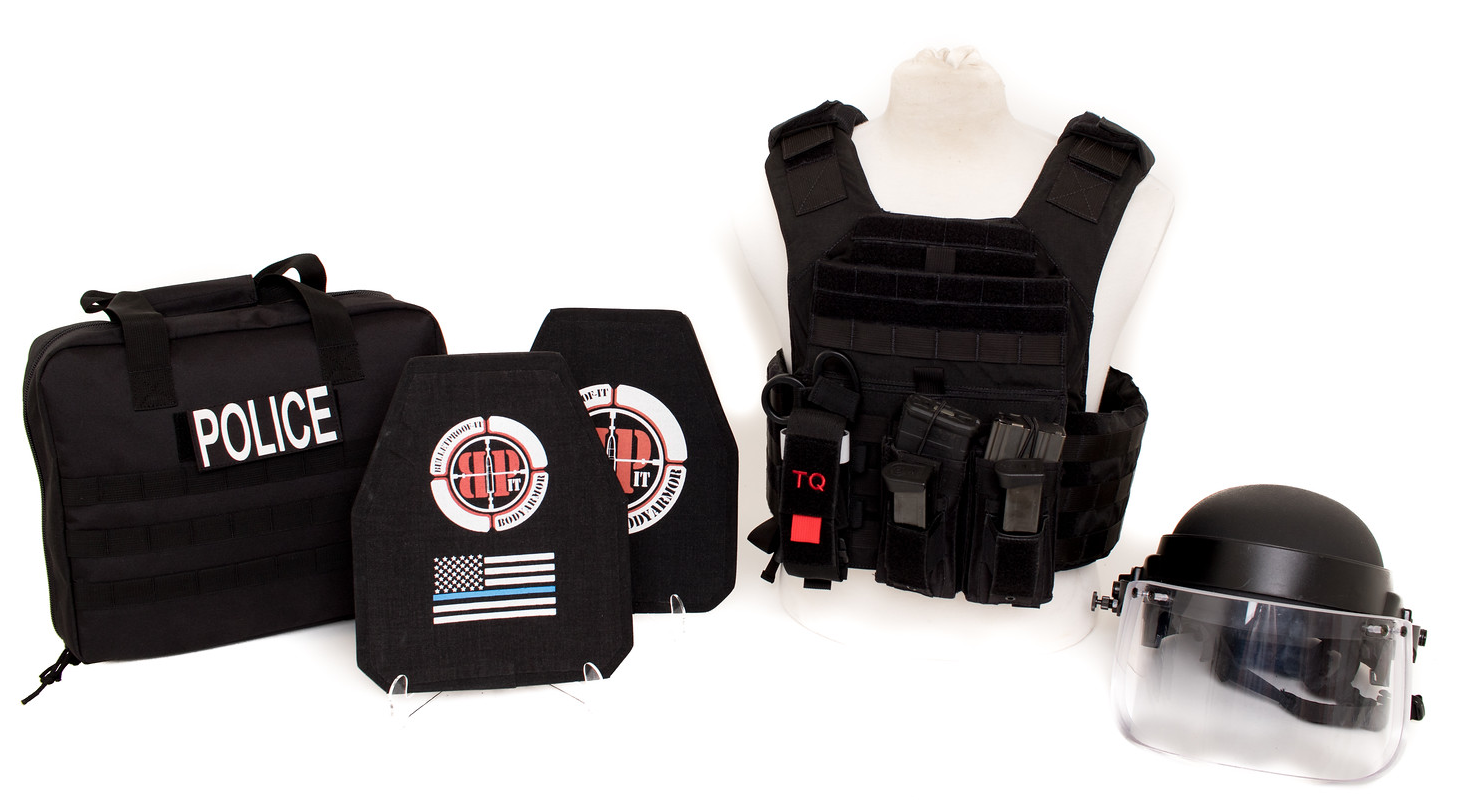 BULLETPROOF IT, LLC-Banshee Kit with bag and Helmet with Visor_edited