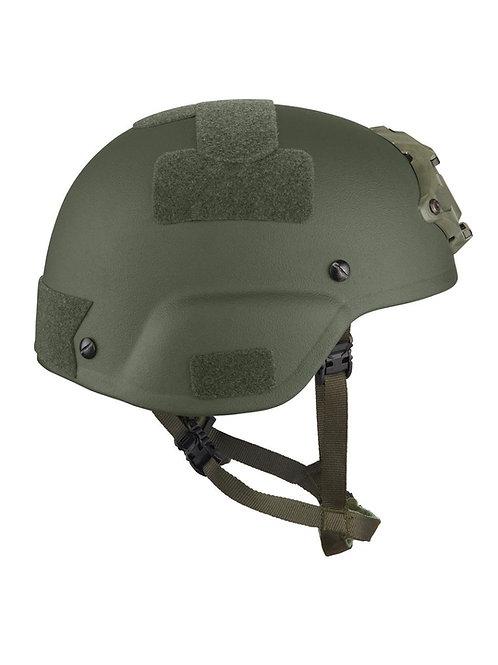 MICH Cut Ballistic Helmet with WILCOX L4 Shroud