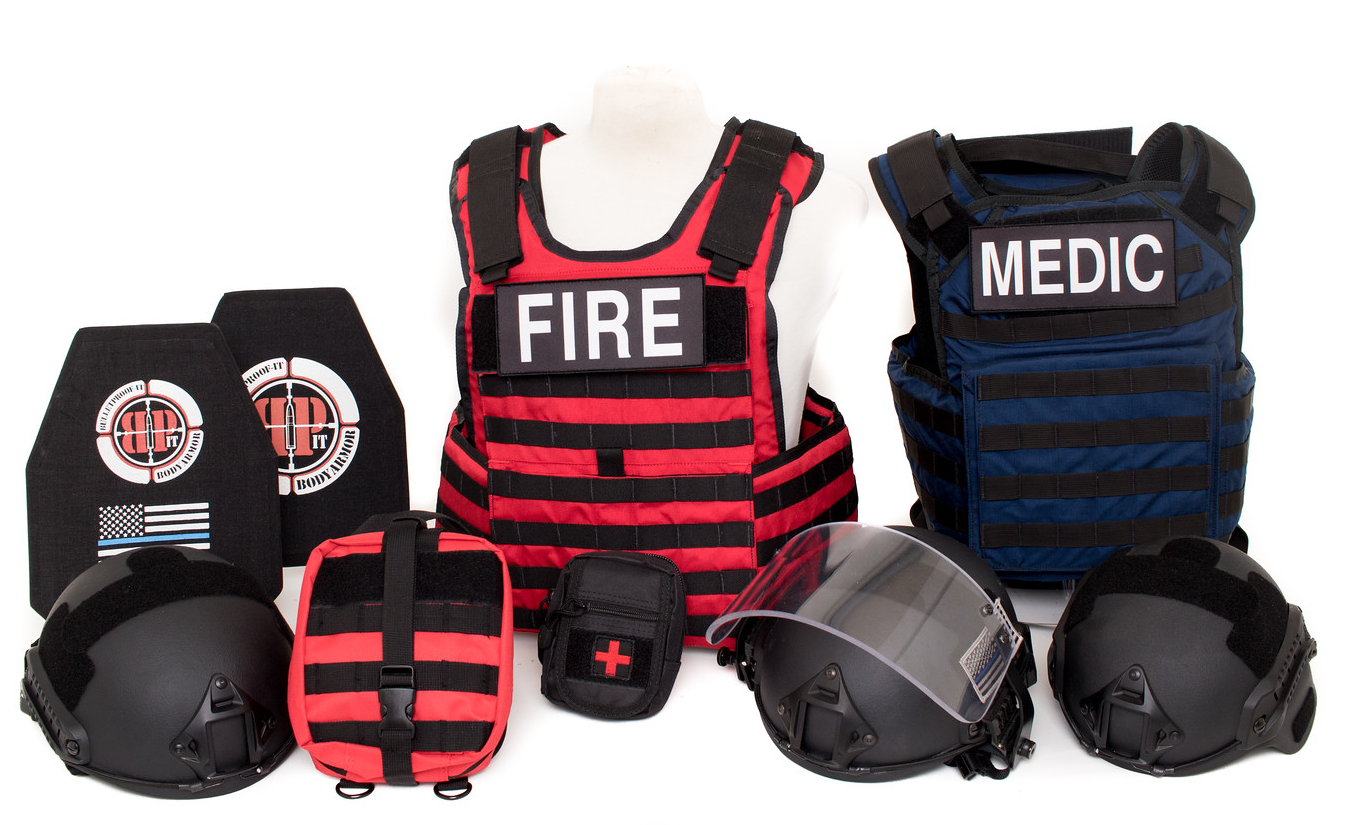BULLETPROOF IT, LLC-(RTF) Rescue Task Force Vest Kit-Fire Kit with Blue medic