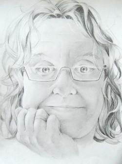 schets zelfportret 2010