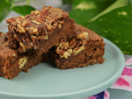 Caramel Turtle Brownies, Easier than Candy But Just as Good