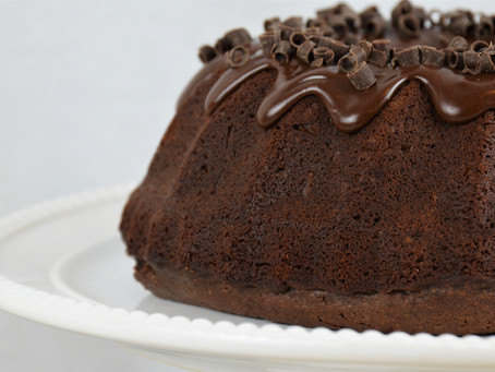 Perfect Treat for a Winter Day at Home: Chocolate Bundt Cake with Fudgy Ganache Center