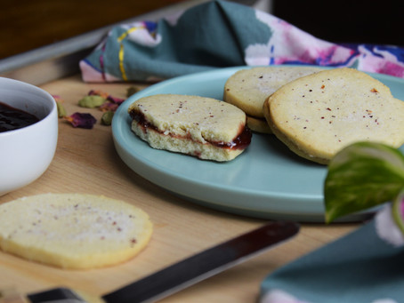 Florals for Spring, Groundbreaking.... Rose Cardamom Jam Cookies to Elevate Your Mood