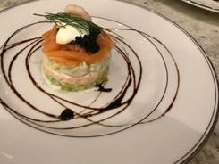 Avocado and Smoked Salmon Tian