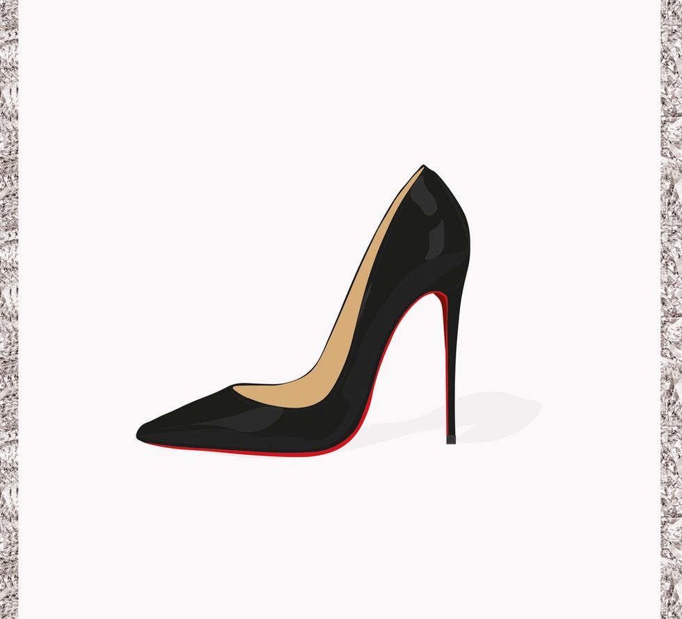 Louboutin Shoe Illustration