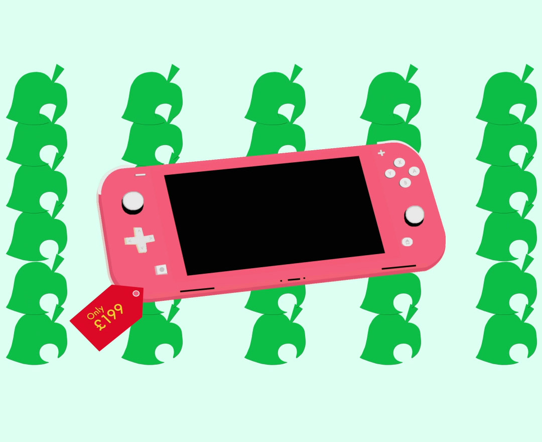 Animal Crossing X Nintendo Lite Pink
