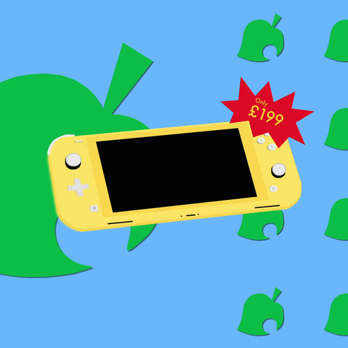 Animal Crossing X Nintendo Lite Yellow