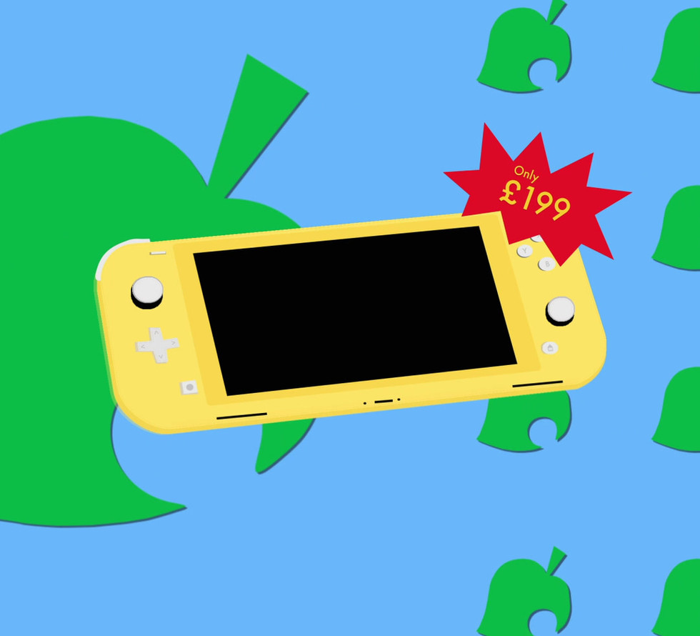 Animal Crossing X Nintendo Lite Yellow