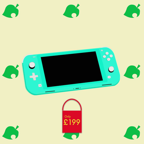 Animal Crossing X Nintendo Lite Blue