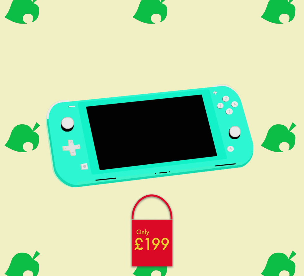 Animal Crossing X Nintendo Lite Blue