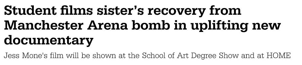 Headline from Manchester Metropolitan University for In Bloom