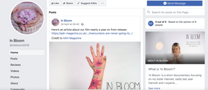 Facebook page for In Bloom