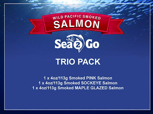 TRIO - 1 each of PINK, MAPLE GLAZED and SOCKEYE