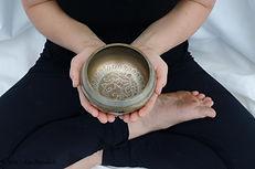 Yoga singing bowl, tiger in the teapot yoga