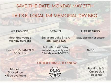 Memorial Day BBQ!