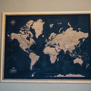 AD - Pin Adventure Map - Meaningful travel wall art for adventurers