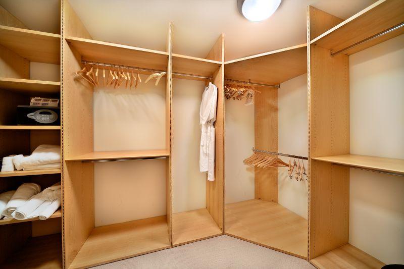 The Master Bedroom Walk-In Closet